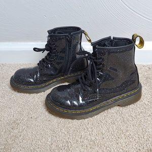 Doc Martens 1460 patent glitter junior boots